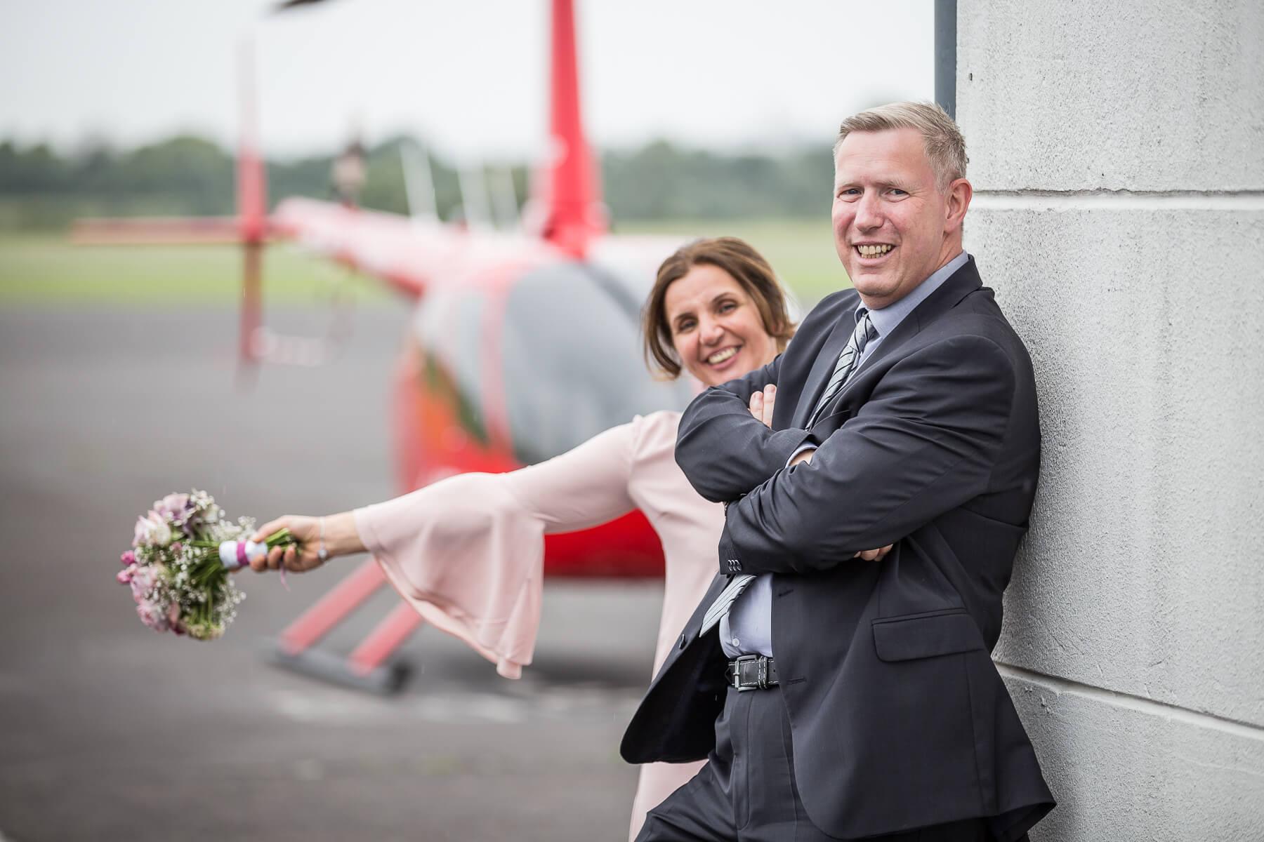 Hochzeitsreportage  Fotograf  Lufthochzeit im Hubschrauber  Hangelar 04
